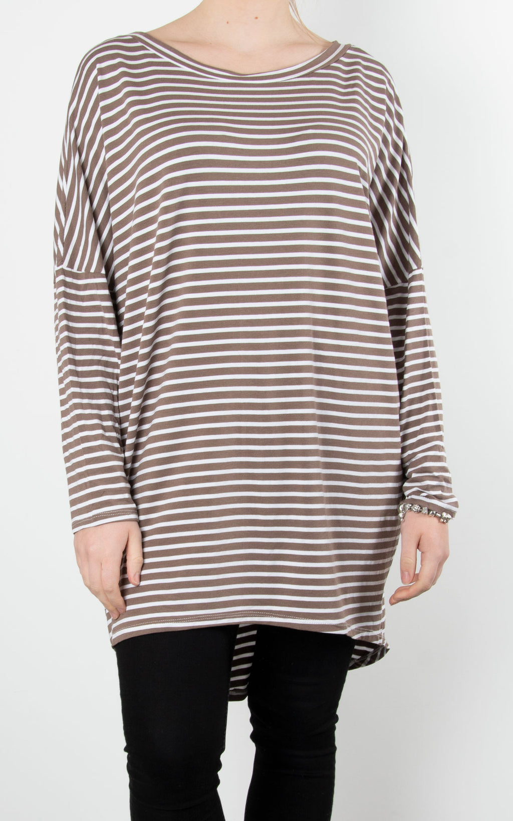 Sue Stripe Tunic | Mocha