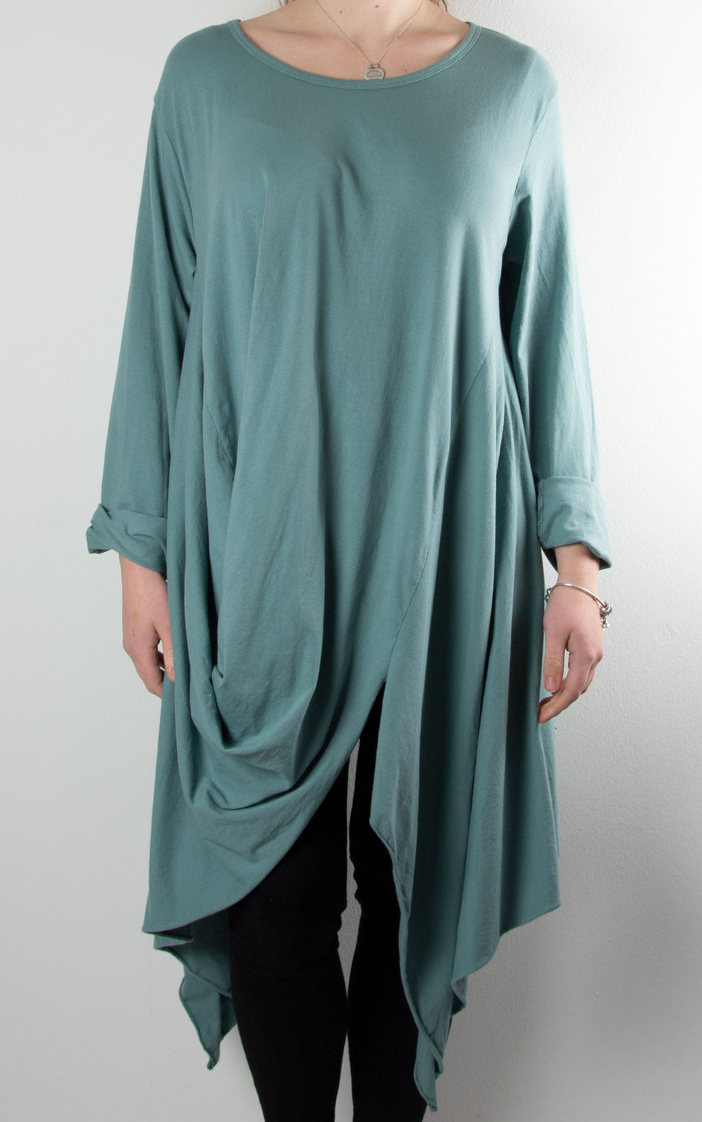 Suki Cocoon Top | Sea Green