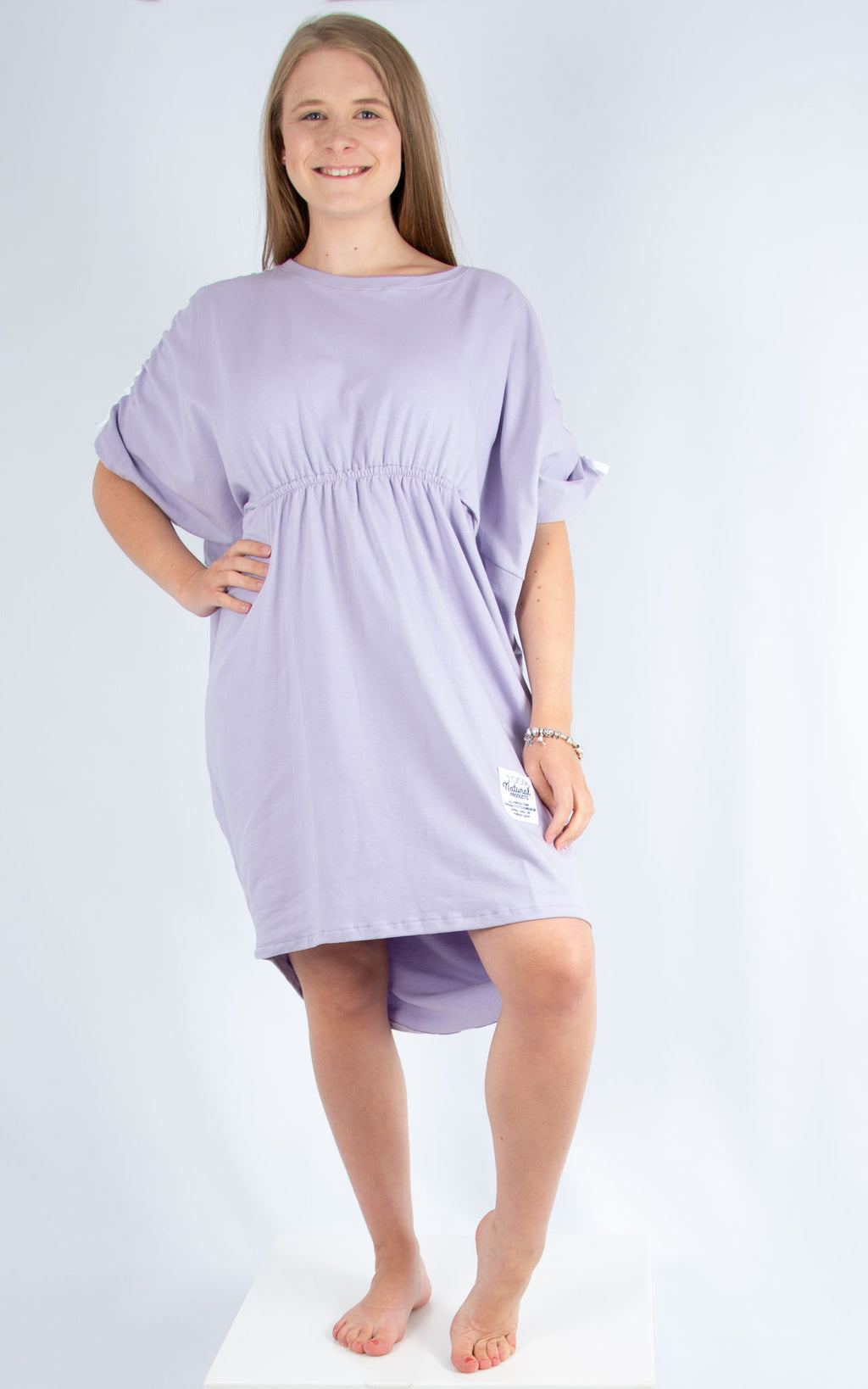 Lilac Cotton Leisure Dress | Made in Italy