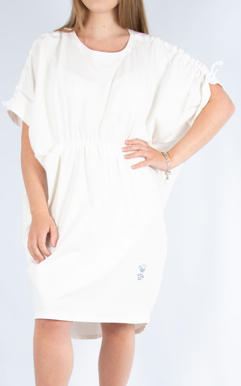 White Cotton Leisure Dress | Made in Italy