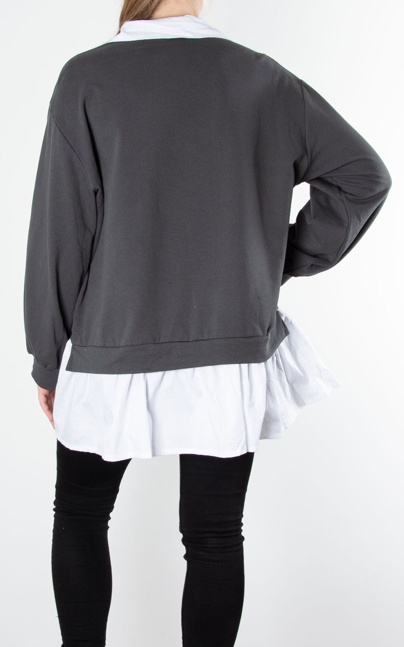 Sweat Shirt Combo|Charcoal