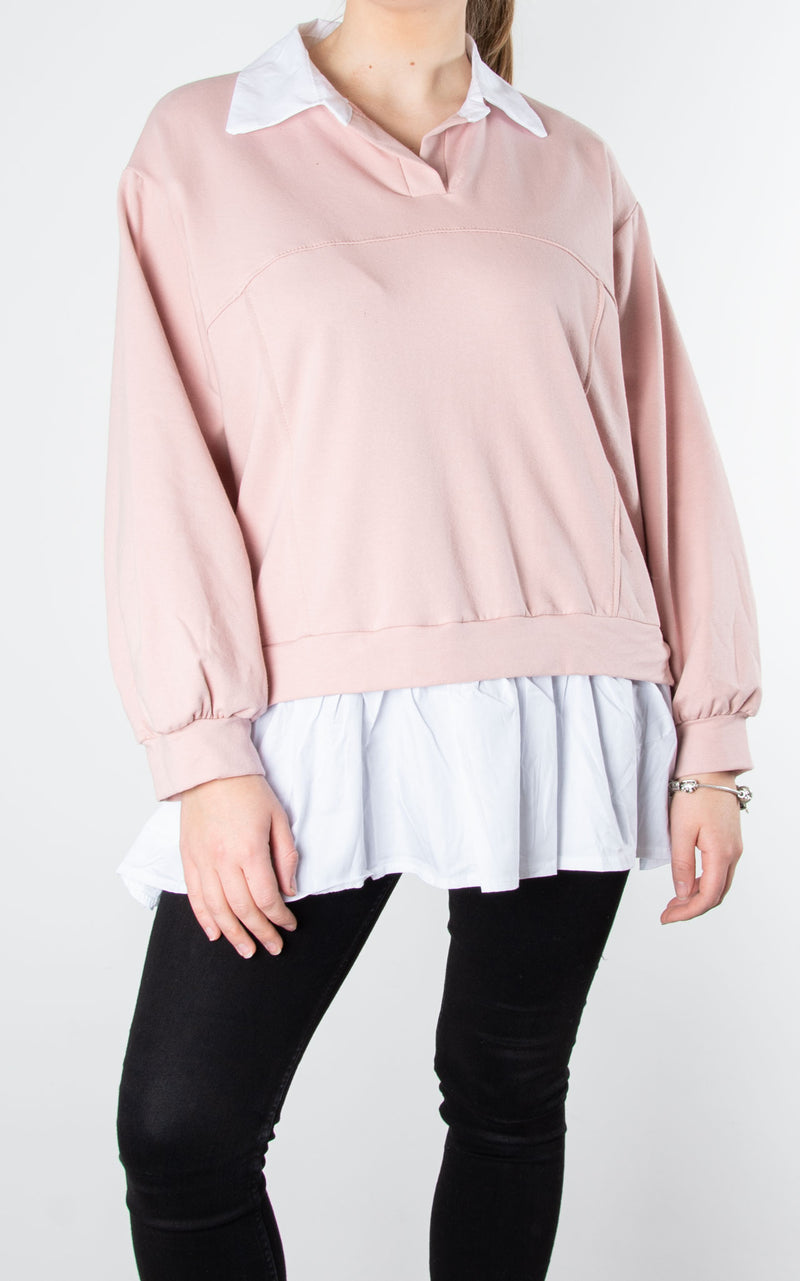 Sweat Shirt Combo| Pink