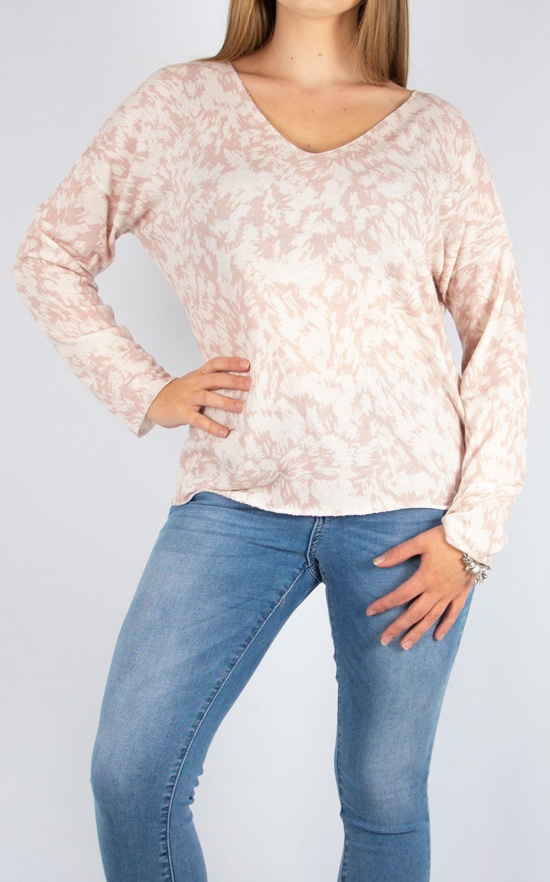 Pink Splatter Top | Made in Italy