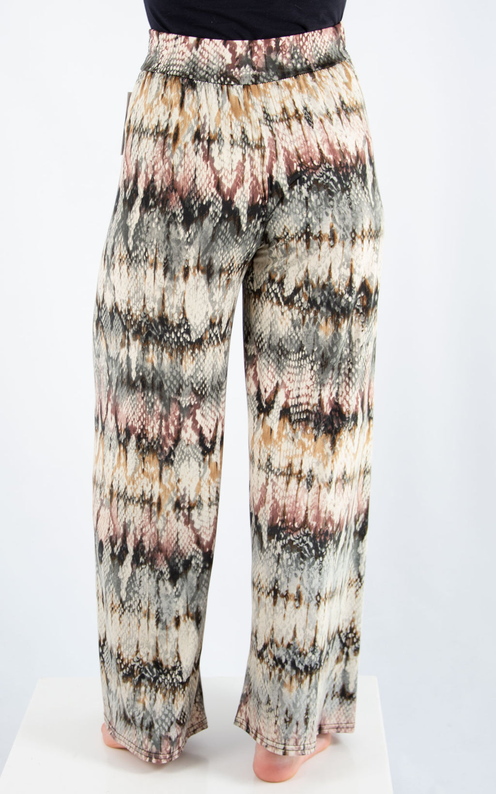 Magic Palazzo Trousers: Snake Print