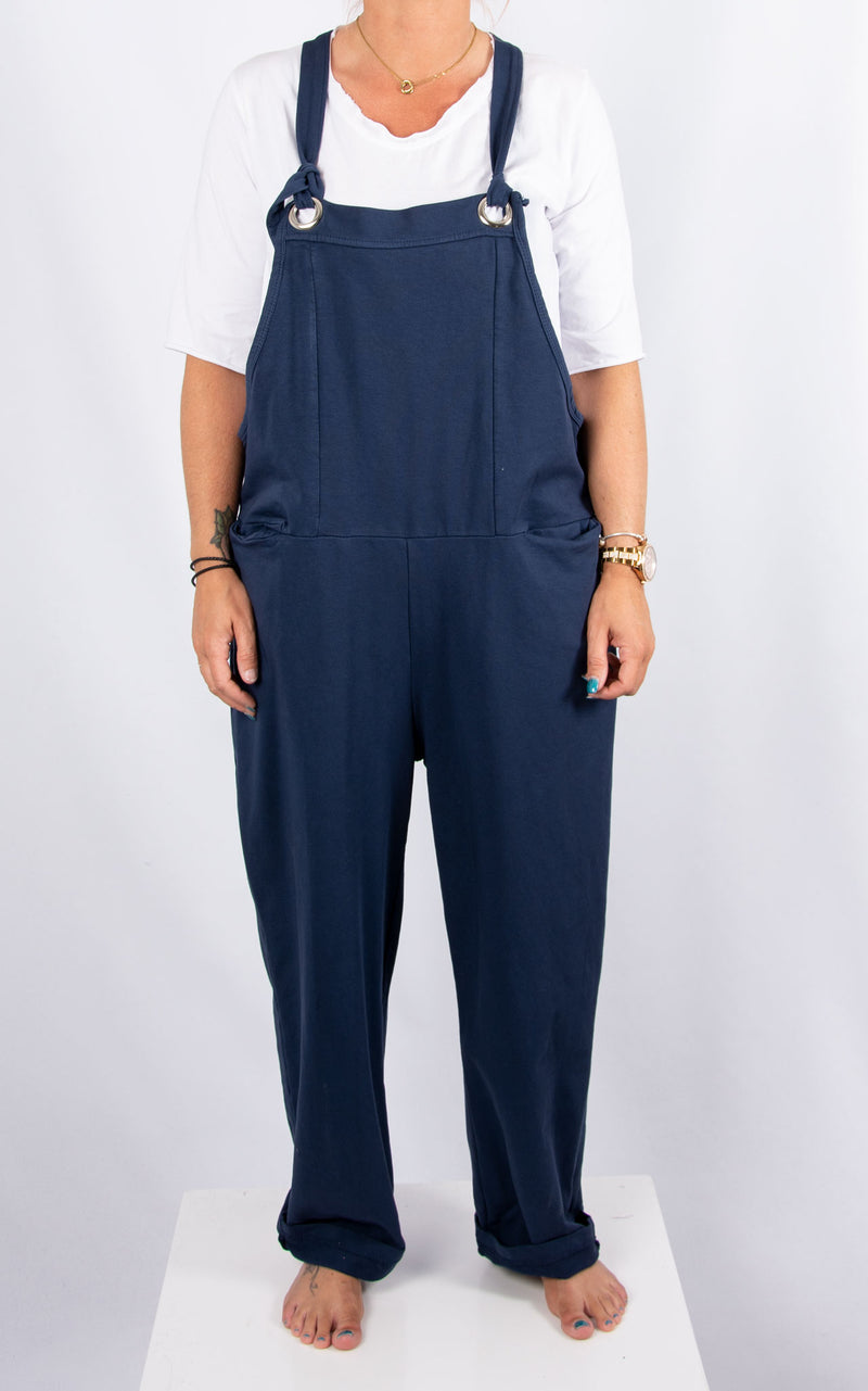 Tanya Dungaree: Plain Navy