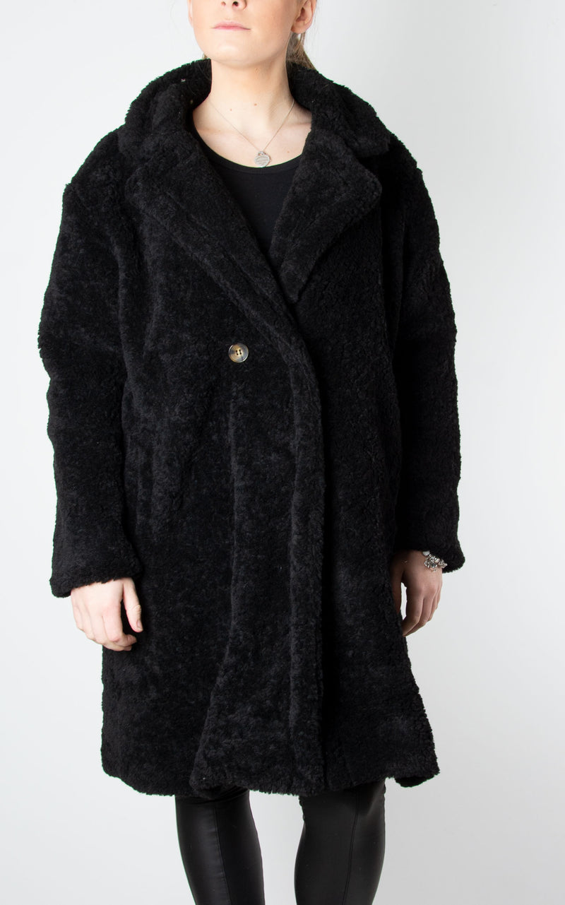 Teddy Coat | Black