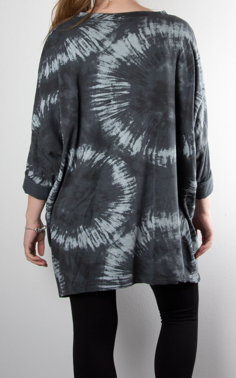 Tie Dye Double Zip | Charcoal