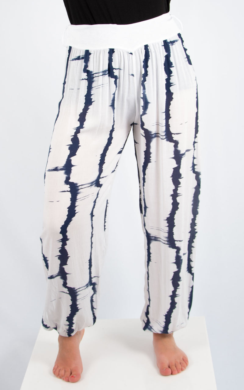 White Tie Dye Trouser | Made in Italy