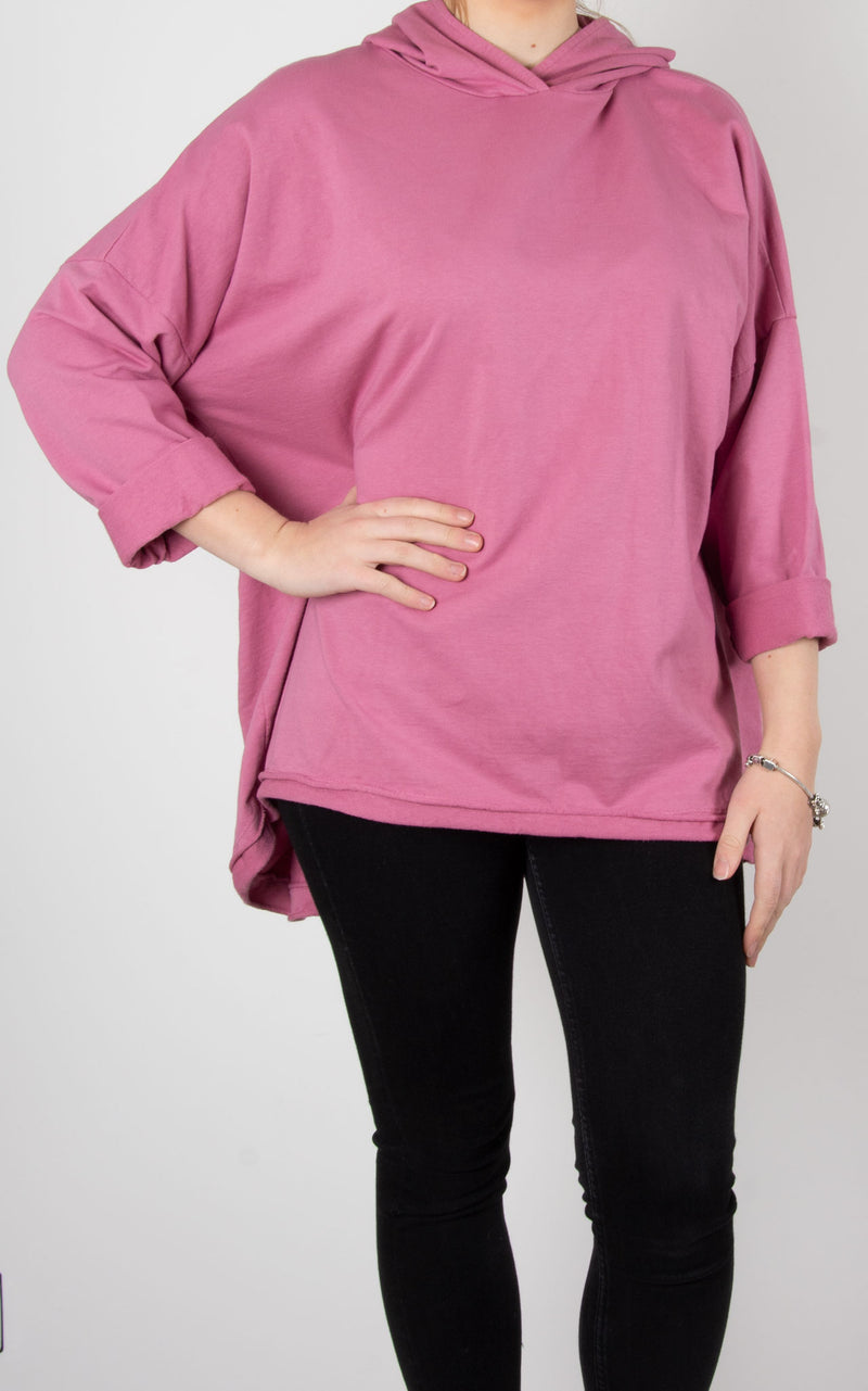 Tilly Hooded Sweat | Rose Pink