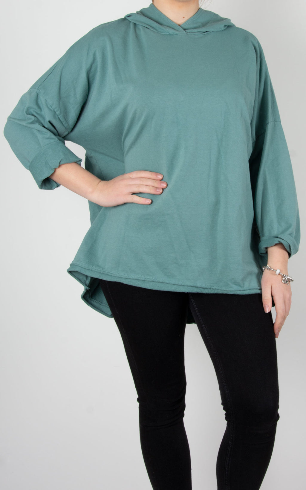 Tilly Hooded Sweat | Sea Green