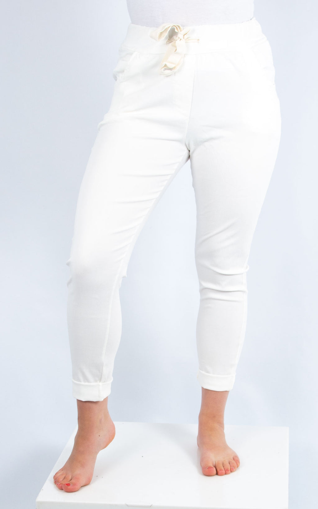 White One Size Joggers | Made in Italy