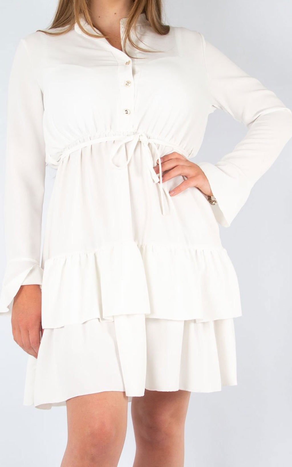 Plain Tea Dress | White