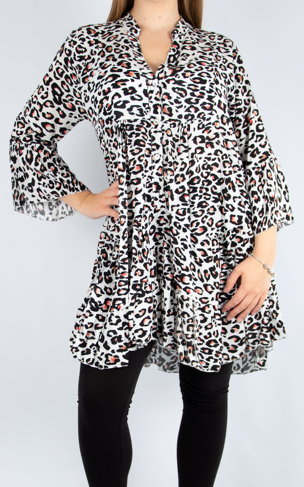 White Leopard Smock | Made in Italy