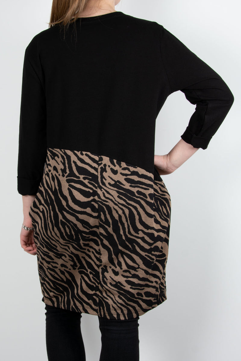 Zebra Bottom Tunic | Tan