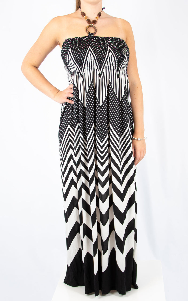 Black and White Ziggy Dress