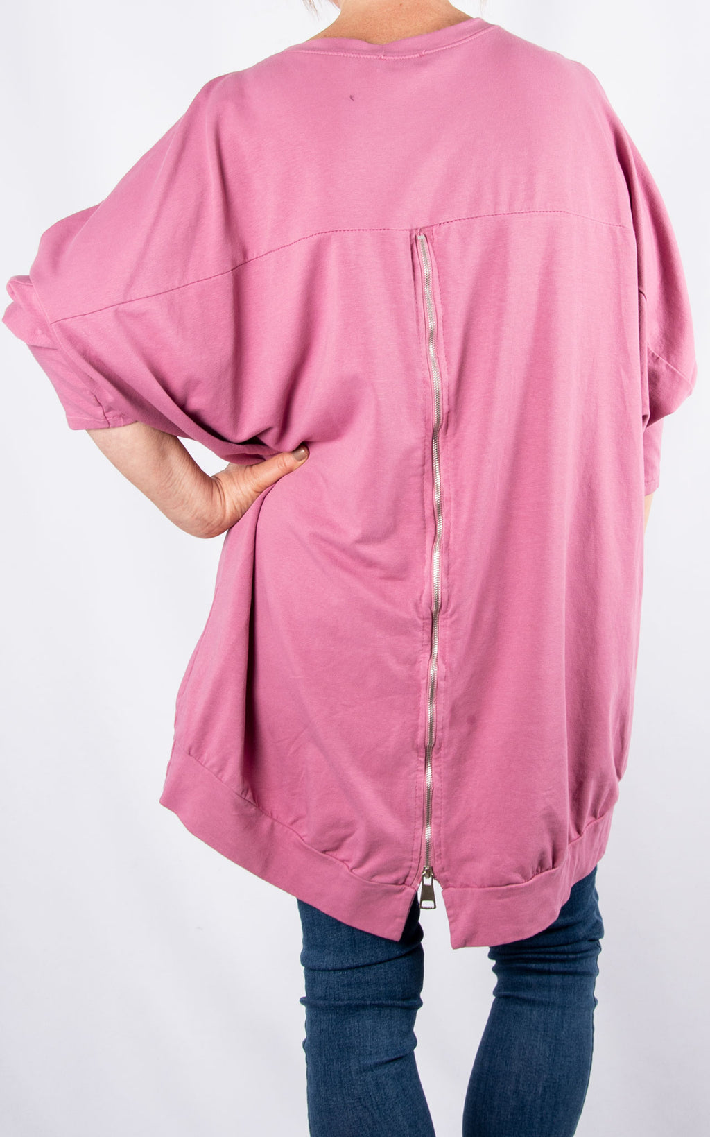 Zippy|Batwing Back Zip |Berry