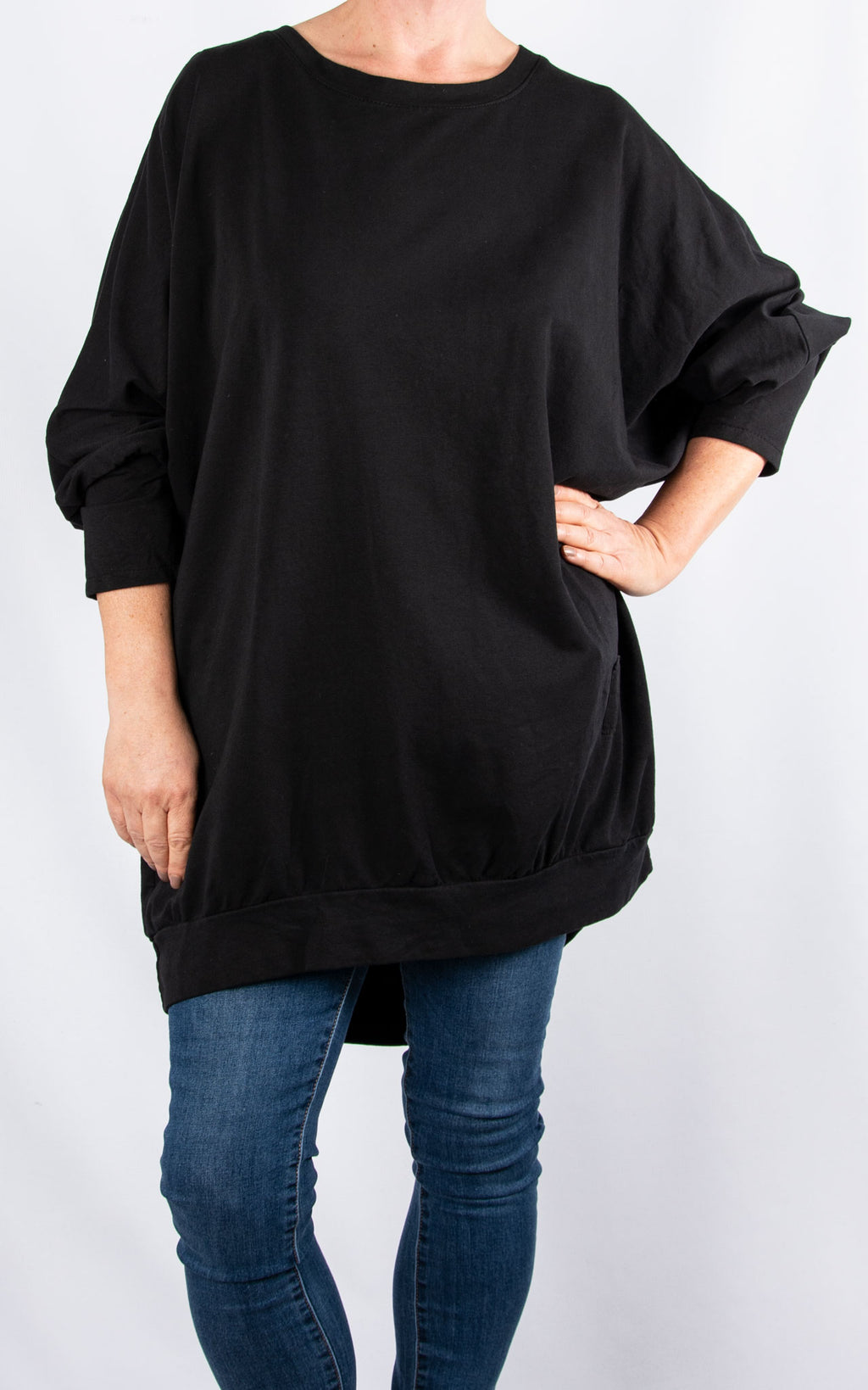 Zippy|Batwing Back Zip |Black