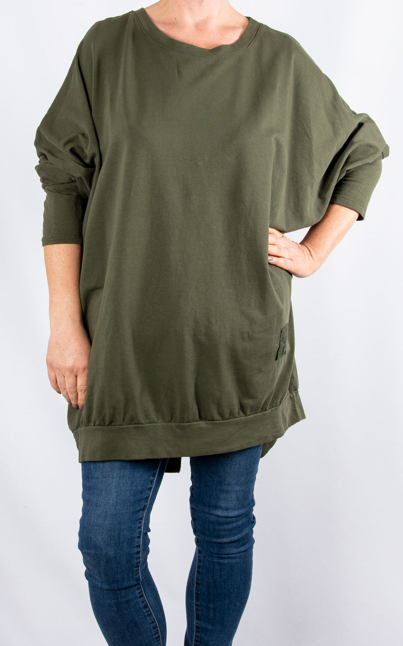 Zippy|Batwing Back Zip |Khaki