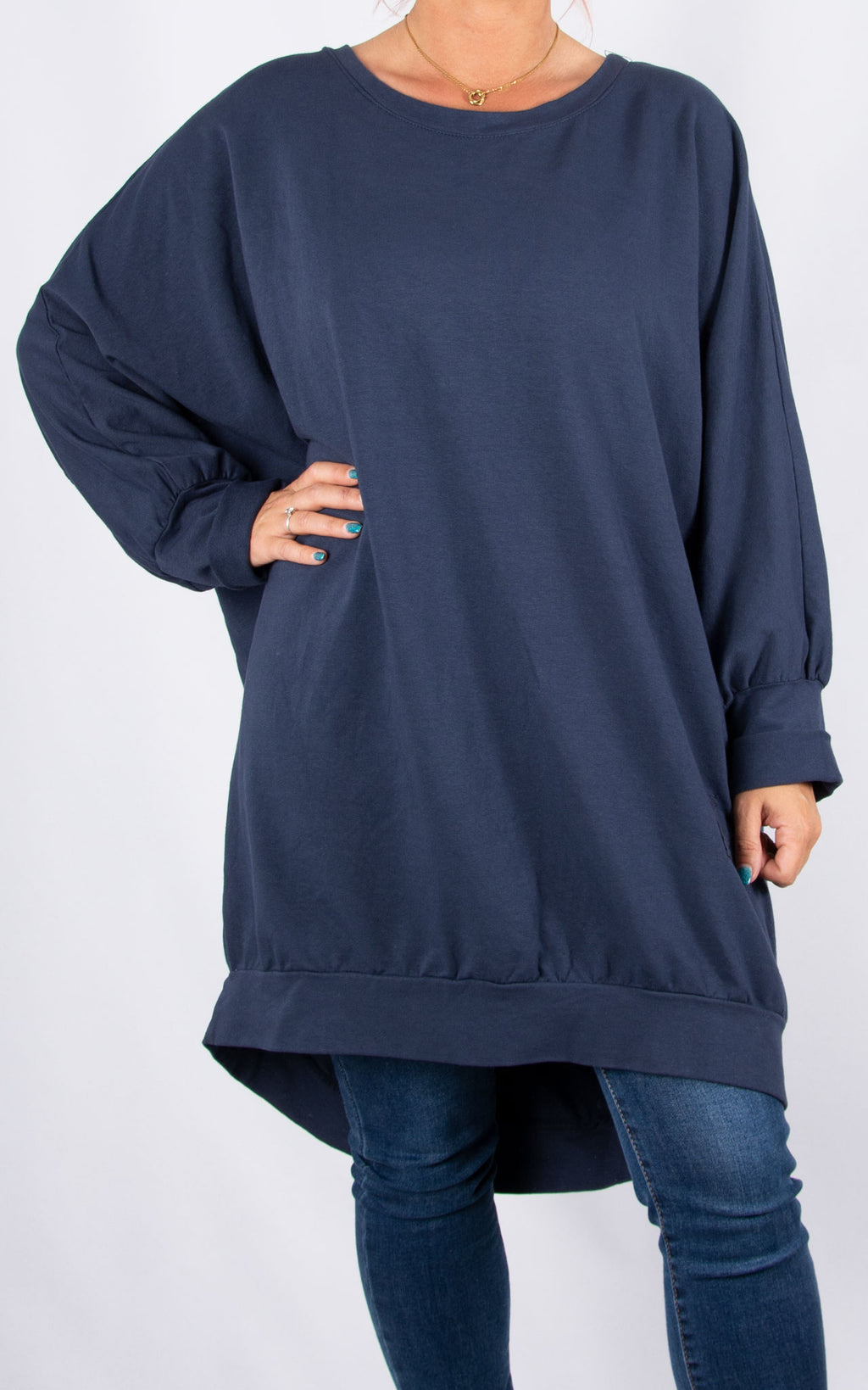Zippy|Batwing Back Zip |Navy