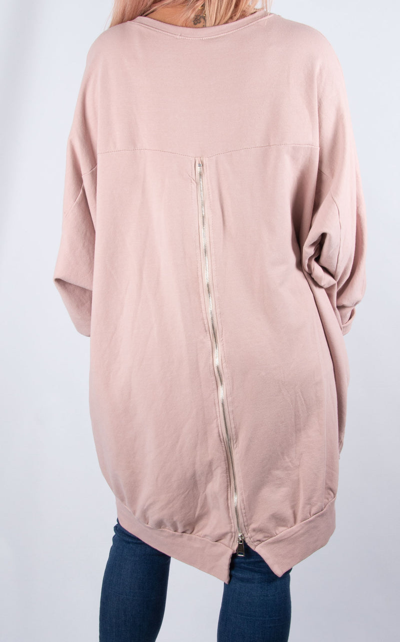 Zippy|Batwing Back Zip | Pink