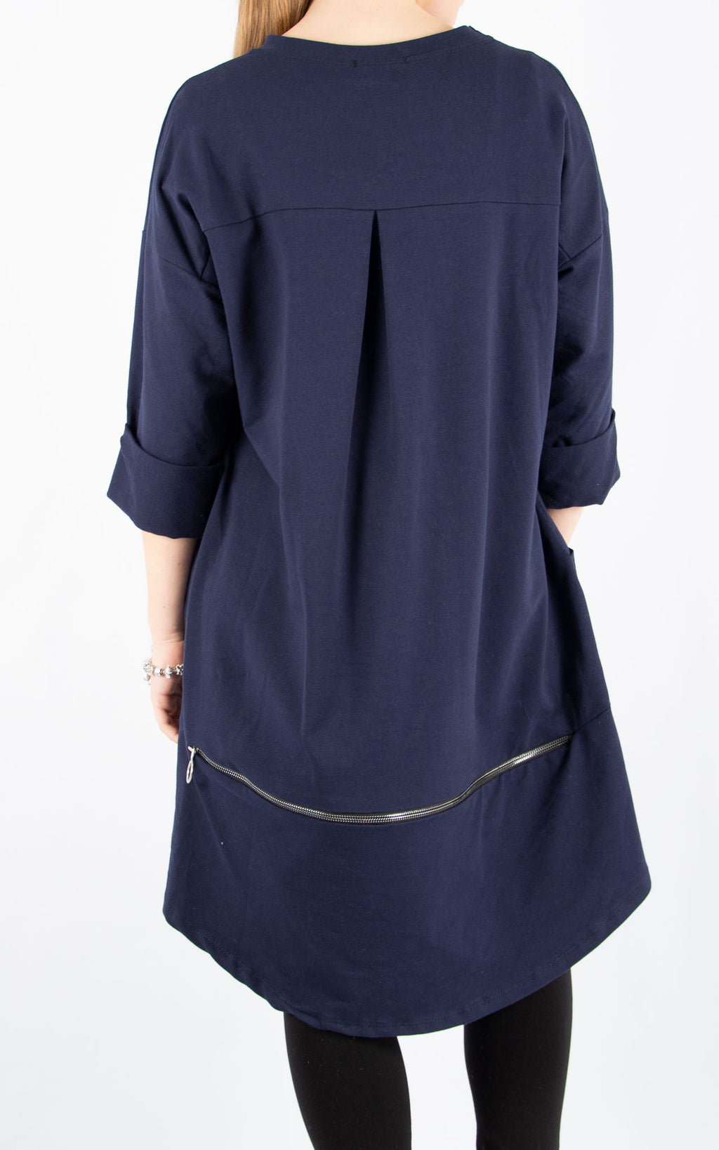 Navy Zippy Sweatshirt