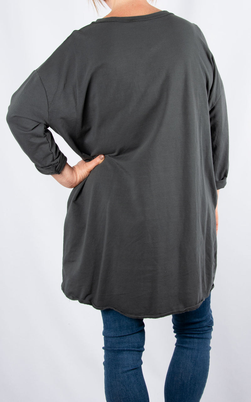 Zippy|Side Zip |Charcoal