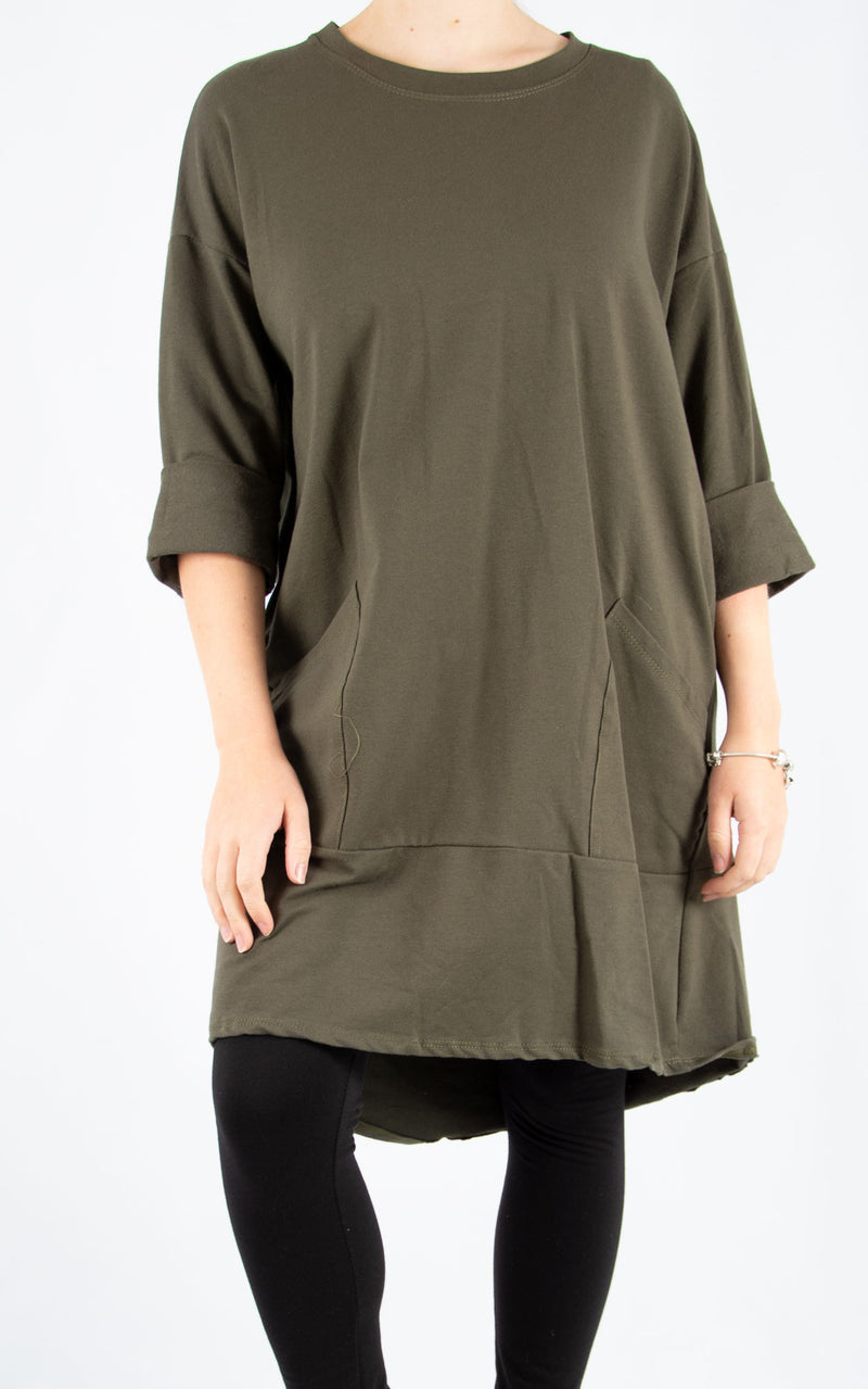 Khaki Zippy Sweatshirt