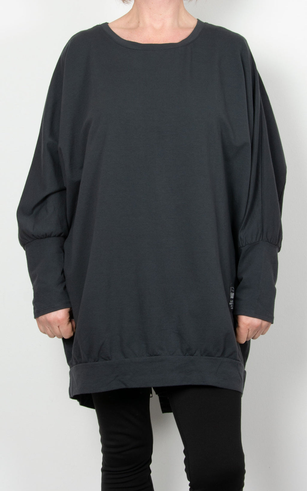 Zippy|Batwing Back Zip |Charcoal