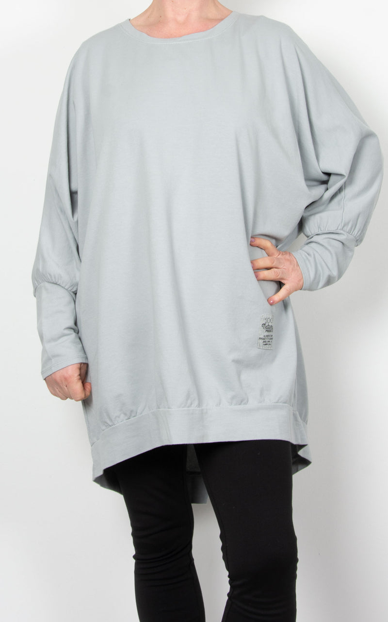 Zippy|Batwing Back Zip |Light Grey