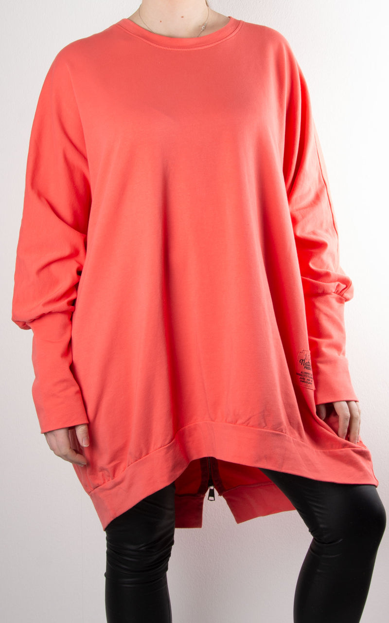 Zippy|Batwing Back Zip | Coral