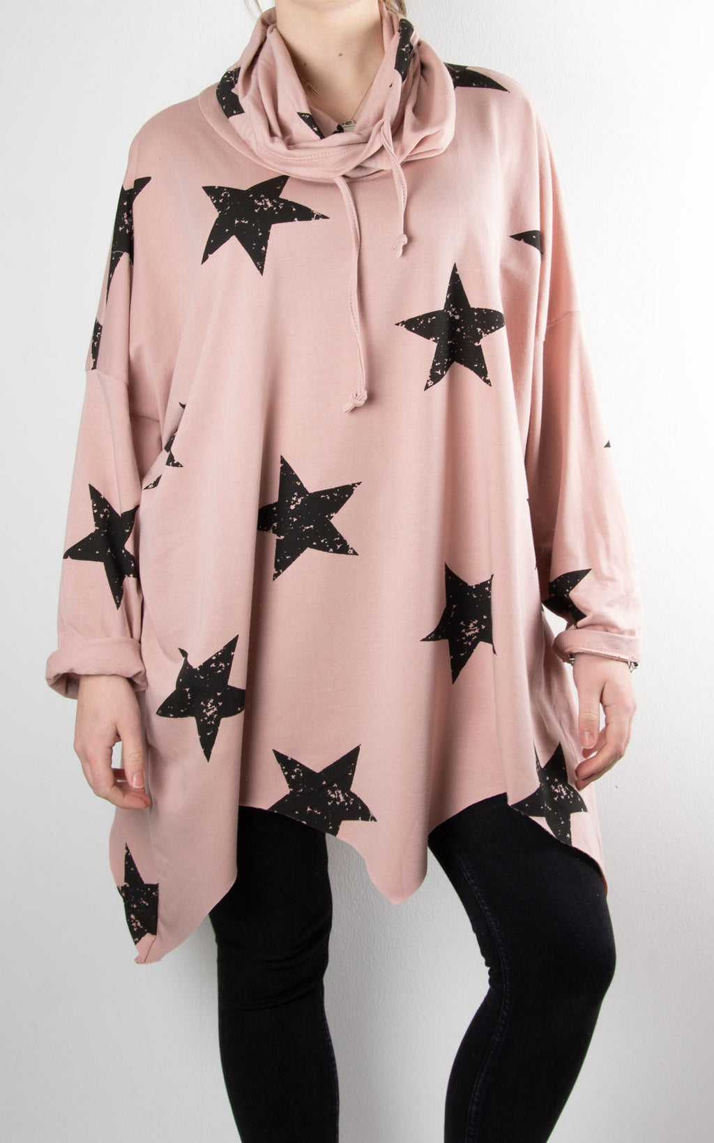 Zoe Cowl Neck Star | Pink