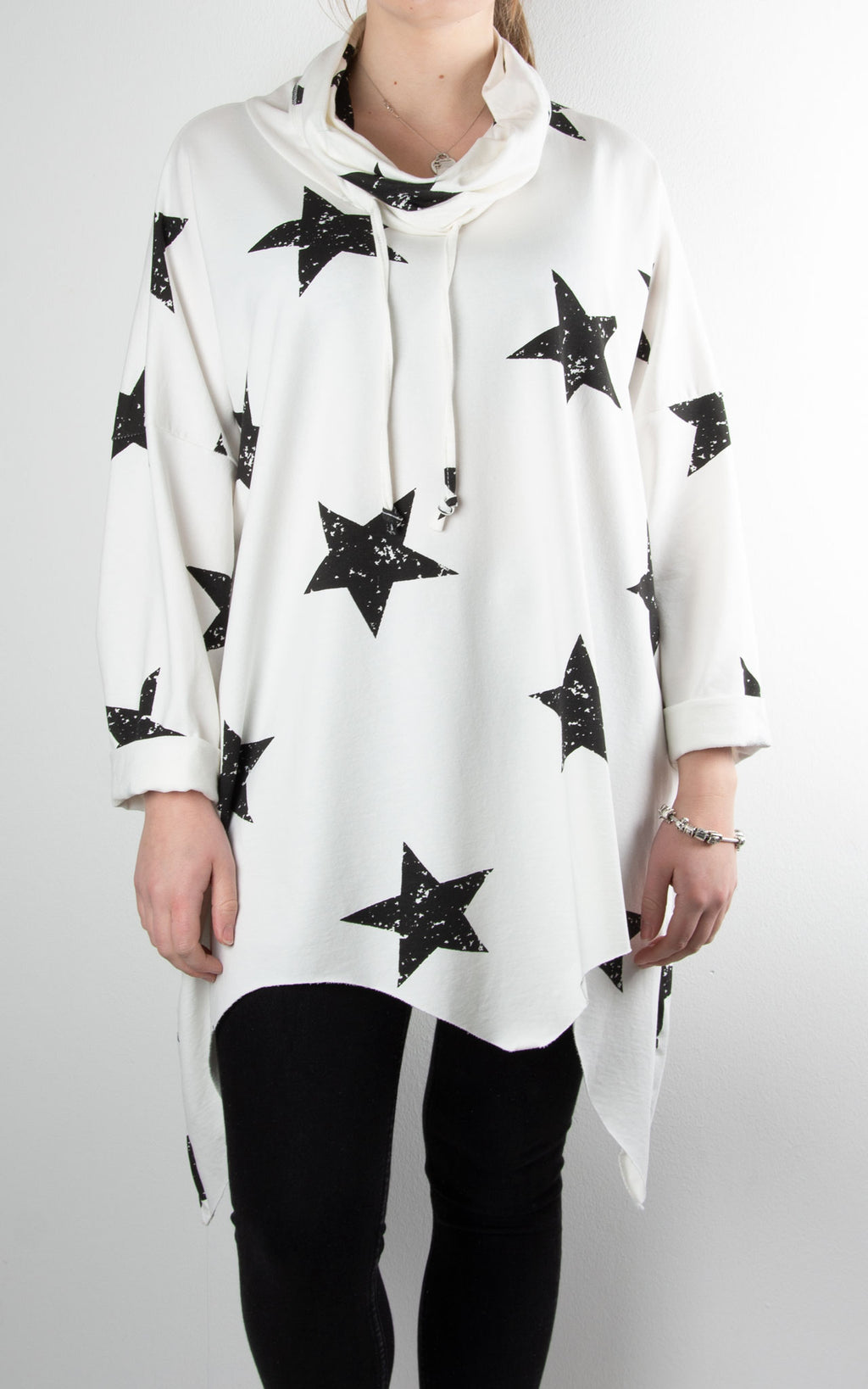 Zoe Cowl Neck Star | Winter White