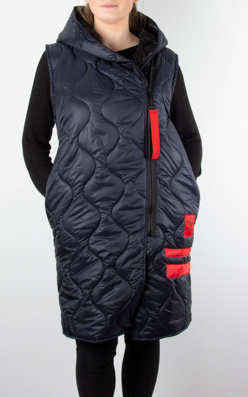 Jilly Zip Gillet | Navy