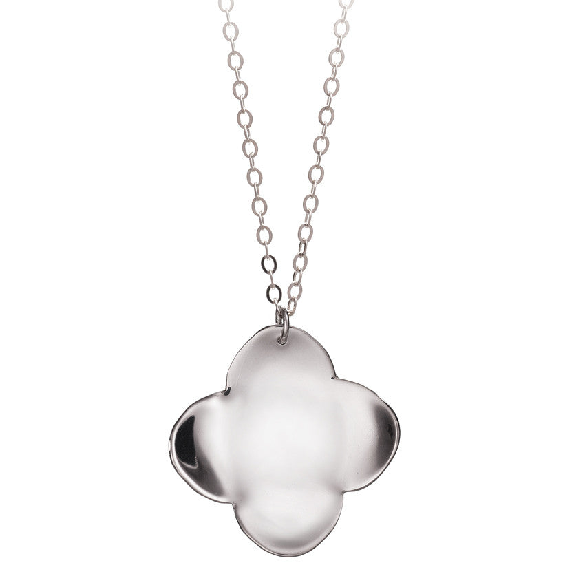 statement my flower diamante pearl necklace and