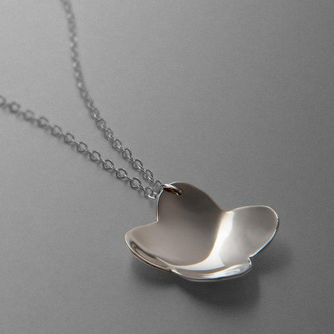 Silver Flower Necklace by Patty Nulph for FAI Jewelry