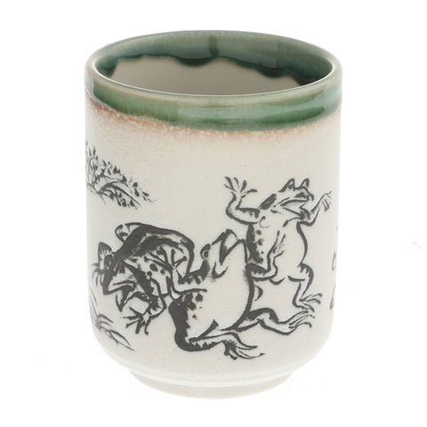 Frolicking Frog and Rabbit Tea Cup