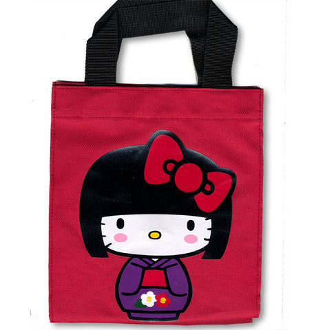 Hello Kitty Kokeshi Red Mini Tote Bag