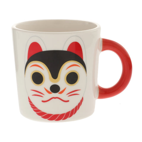 Inu Hariko Red-Handle Mug