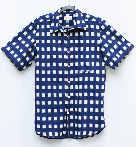 Men's Kasuri Square Shirt
