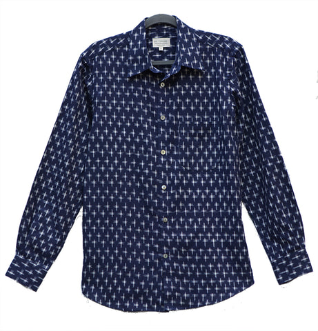Men's Long Sleeve Kasuri Cross Shirt