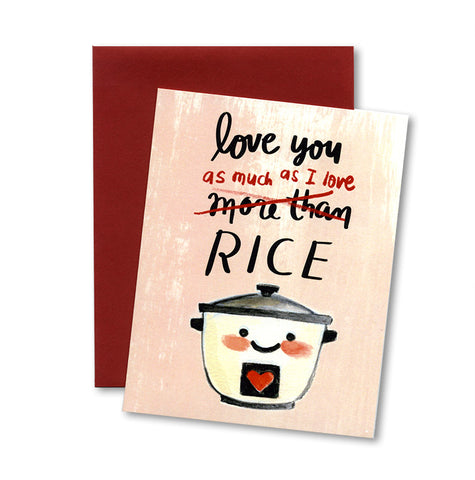 Love Rice Notecard