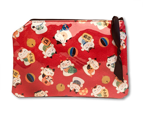 Yancha Maneki Neko Cosmetic Bag