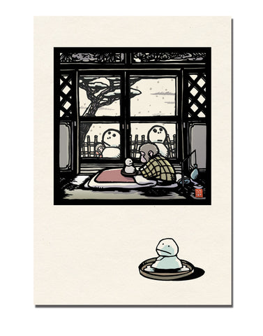 Monkey and the Snowmen Notecard Set
