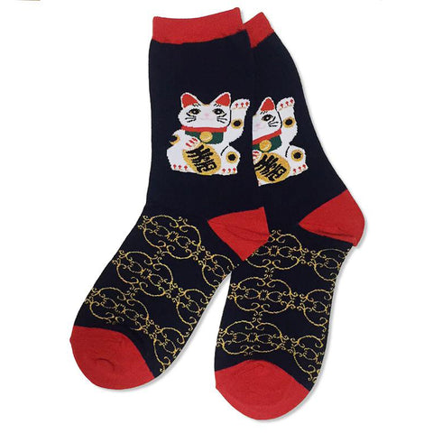 Maneki Neko Socks for Women