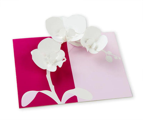 Pop-up Orchid Notecard