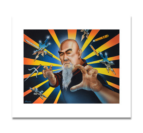 """Man of Many Weapons"" Print by Mark Nagata"