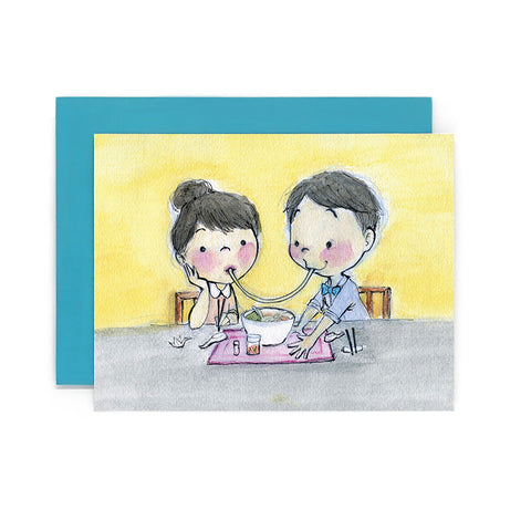 Ramen Kiss Notecard