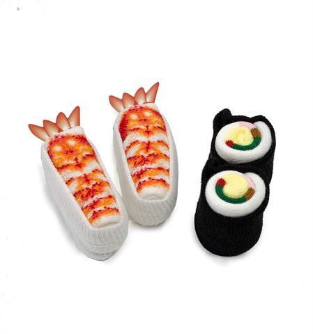 Futomaki and Shrimp Sushi Socks for Kids