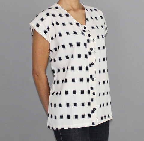Women's Kasuri Square Shirt