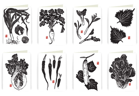 Asian Vegetable Note Card Set
